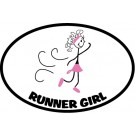 The Runner Girl Magnet in Pink