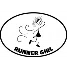 The Runner Girl Sticker