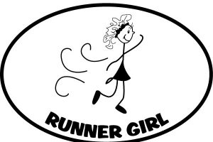 The Runner Girl Sticker-0