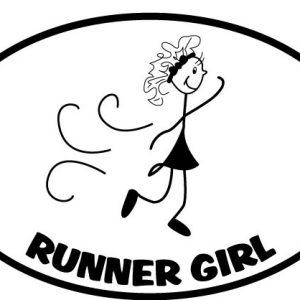 The Runner Girl Sticker-0