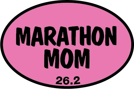 Marathon Mom Sticker-0