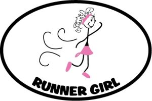 The Runner Girl Sticker in Pink-0