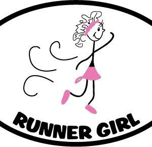 The Runner Girl Sticker in Pink-0
