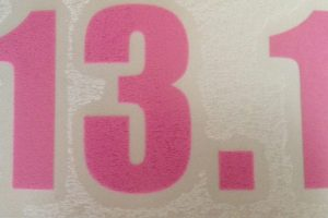 13.1 Vinyl sticker in Pink-0