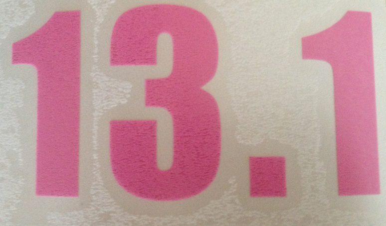 13.1 Vinyl sticker in Pink-0