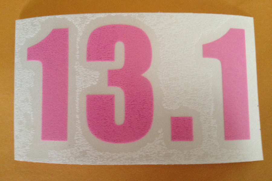 13 1 window cling in pink for 13 1 window sticker