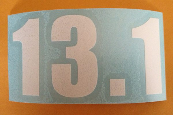 13.1 Vinyl sticker in White-0
