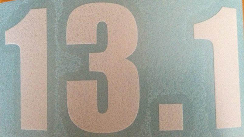 13.1 Vinyl sticker in White-0