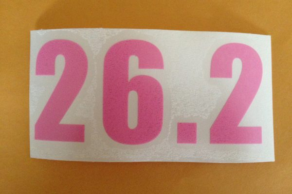 26.2 Vinyl sticker in Pink-509