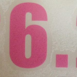 26.2 Vinyl sticker in Pink-0