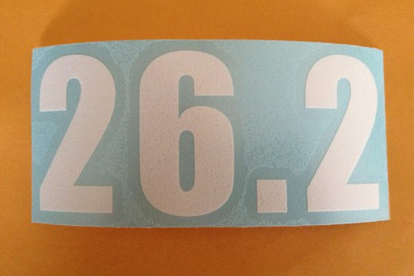26.2 Vinyl sticker in White.-508