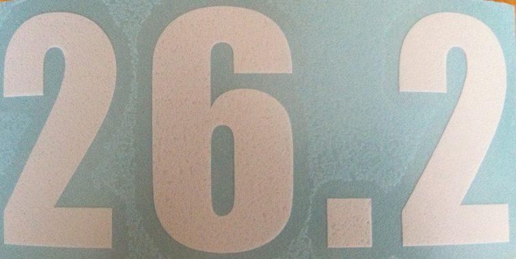 26.2 Vinyl sticker in White.-0