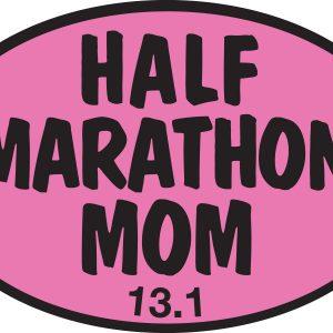 Half Marathon Mom PINK Sticker-0