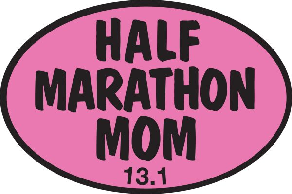Half Marathon Mom PINK Sticker-0