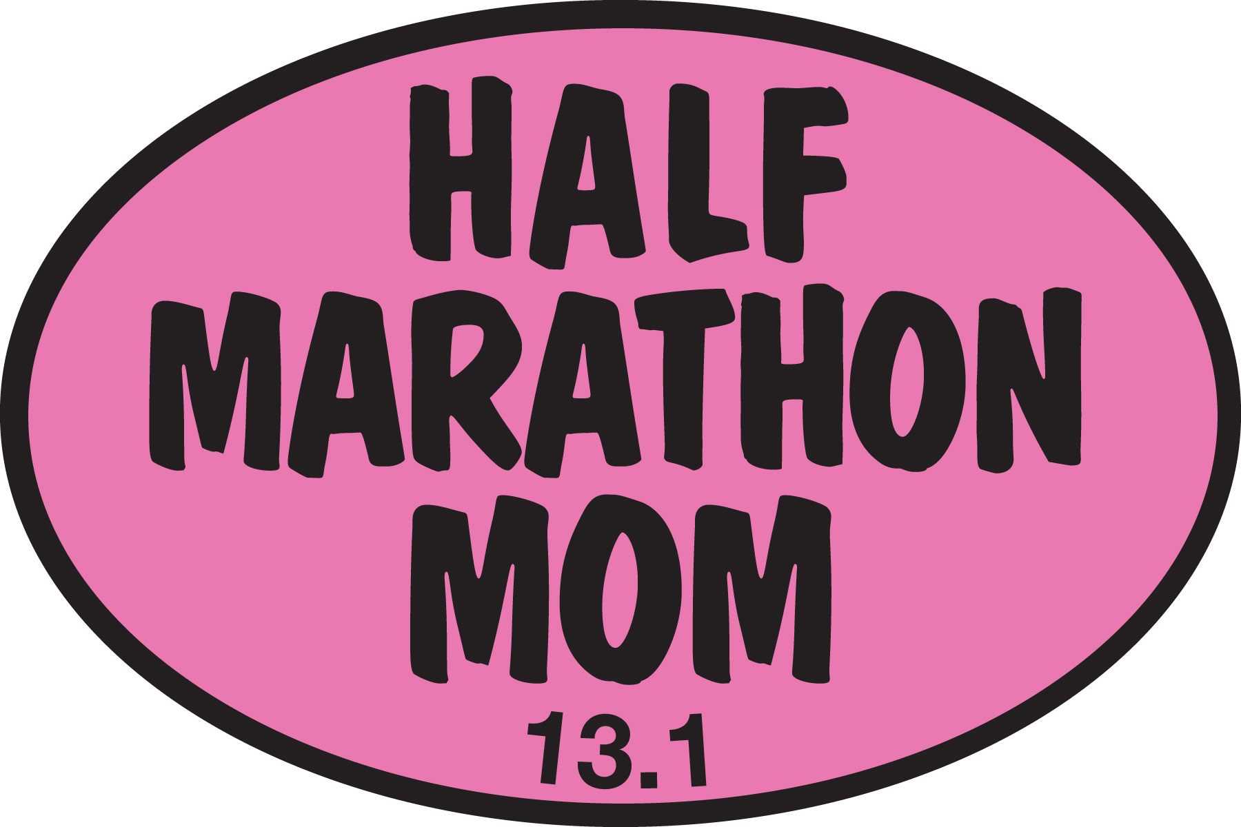 Half marathon mom pink sticker 0