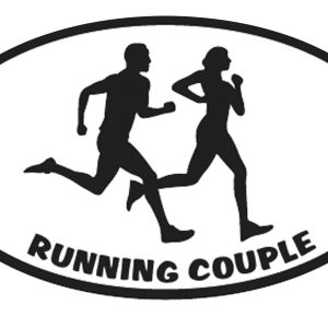 Running Couple Sticker-0