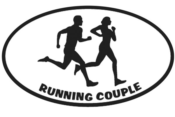 Running Couple Sticker-0