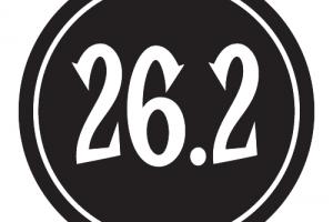"26.2 Sticker – 2.5"" Circle (Black)-0"