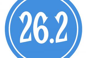 "26.2 Sticker – 2.5"" Circle (Blue)-0"