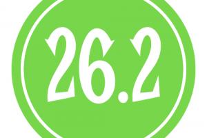 "26.2 Sticker – 2.5"" Circle (Green)-0"
