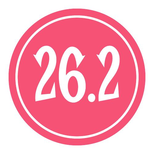 """26.2 Sticker – 2.5"""" Circle (Pink)-0"""
