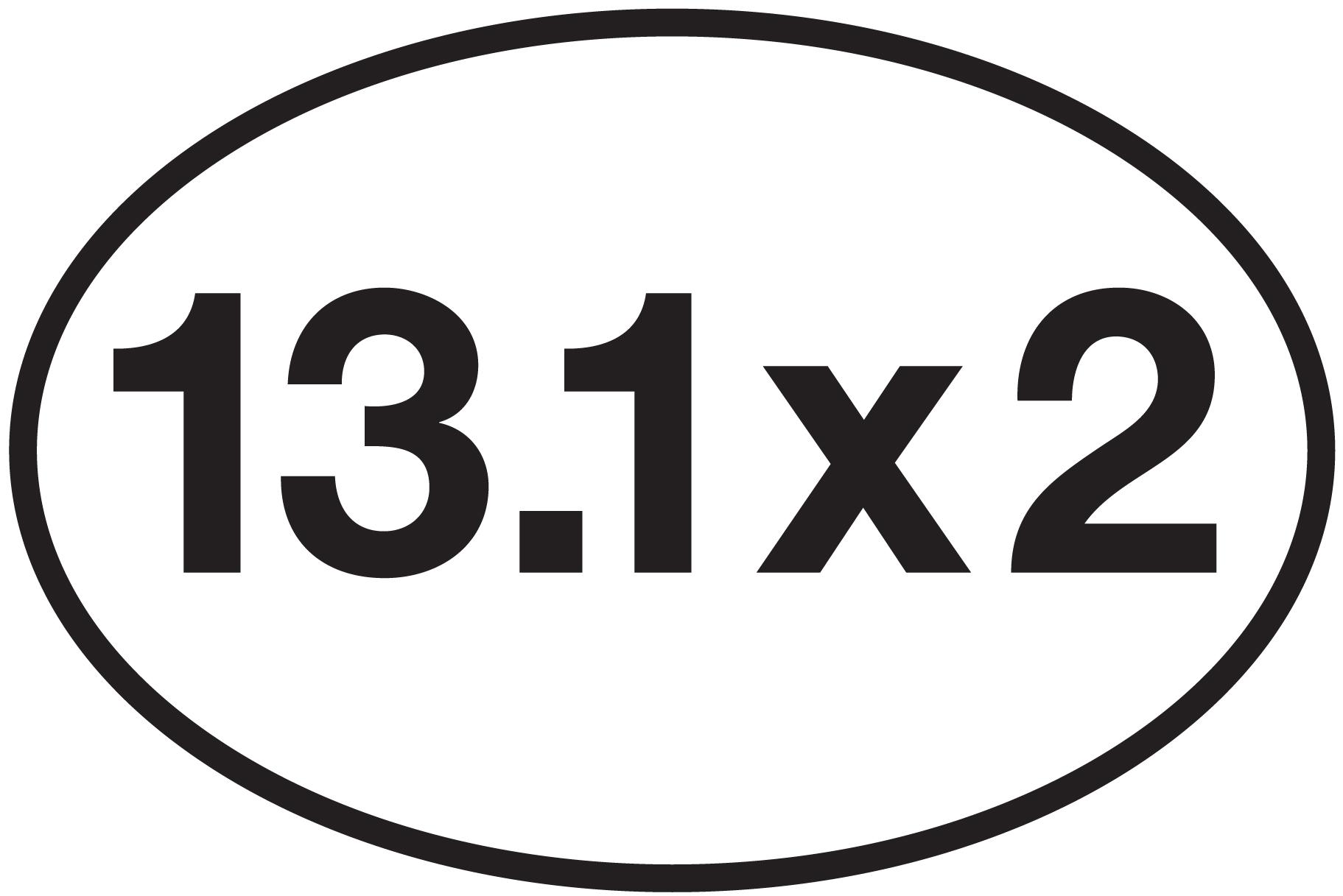 13 1 x 2 sticker 0