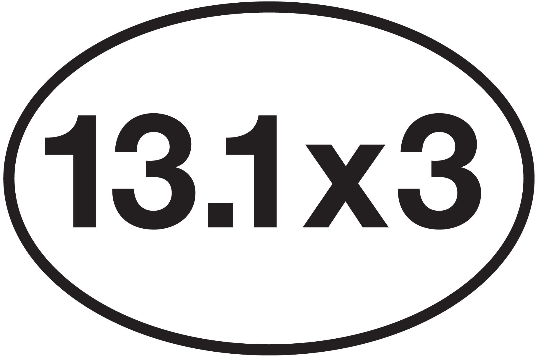 13 1 x 3 sticker 0