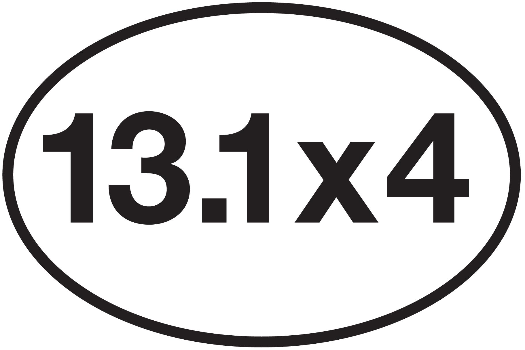13 1 x 4 sticker 0