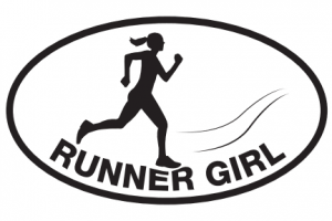 Runner Girl Sticker #2-0