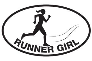 Runner Girl Sticker #2-0
