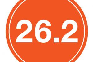 "26.2 Sticker – 4"" Circle (Orange)-0"