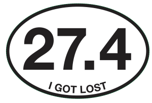 27.4 I GOT LOST Sticker-0
