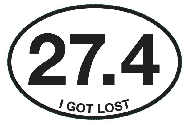 27.4 I GOT LOST Sticker-0