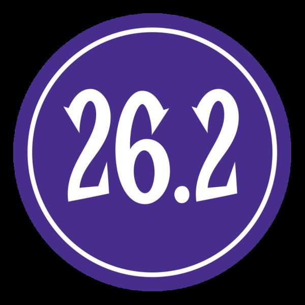 "26.2 Sticker – 2.5"" Circle (Violet)-0"