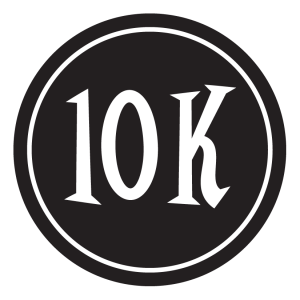 "10K Sticker – 2.5"" Circle (Black)-0"