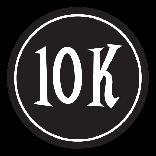 "10K Sticker – 2.5"" Circle (Black)-0"