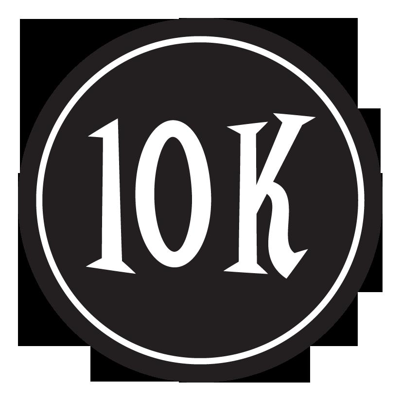 10k sticker 4 circle black