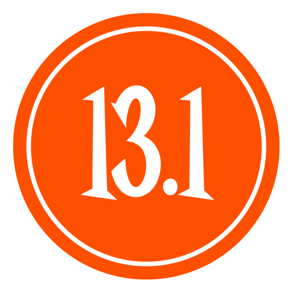 "13.1 Sticker – 2.5"" Circle (Orange)-0"