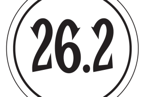 "26.2 Sticker – 2.5"" Circle (White)-0"