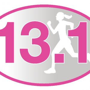 13.1 Pink Runner Girl Sticker-0