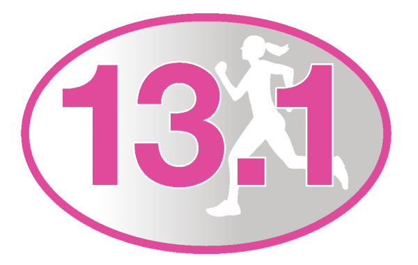 13.1 Pink Runner Girl Sticker-729