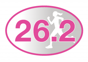 26.2 Pink Runner Girl Sticker-0