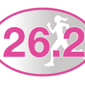 26.2 Pink Runner Girl Sticker-0