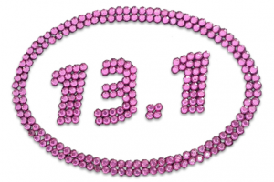 13.1 Pink Bling Sticker-0