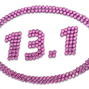 13.1 Pink Bling Sticker-0