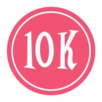 """10K Sticker – 2.5"""" Circle (Pink)-0"""