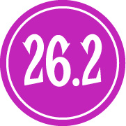 "26.2 Sticker – 2.5"" Circle (Purple)-0"