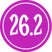 "26.2 Sticker – 2.5"" Circle (Purple)-0"